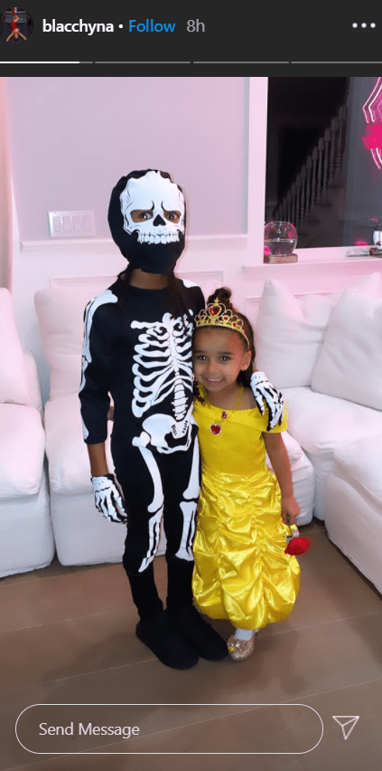 Rob Kardashian's daughter, Dream, and her brother, King Cario, dressed up in Halloween costumes.   Photo: Instagram/blacchyna