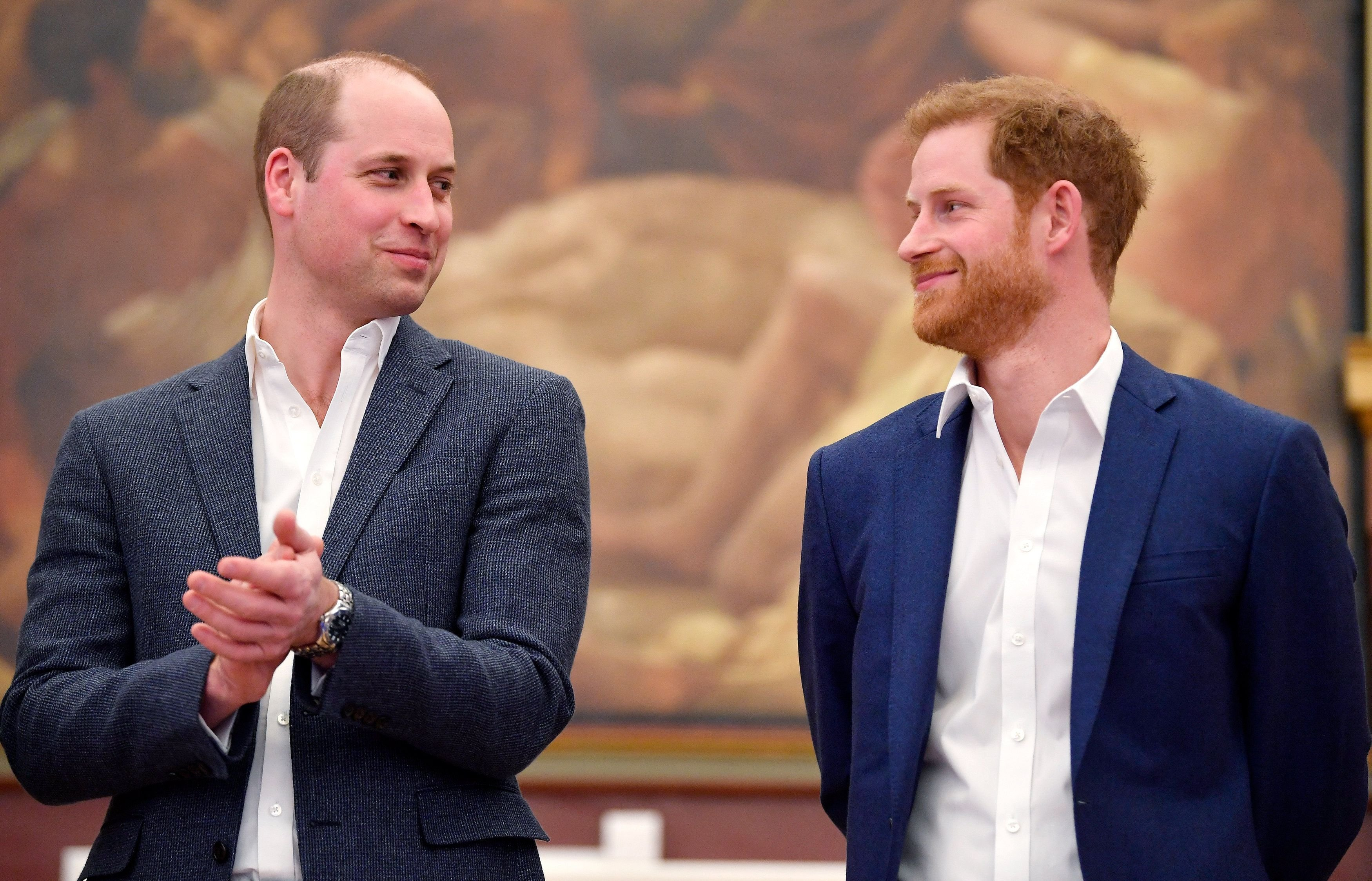 Prince William, Duke of Cambridge and Prince Harry at the opening of the Greenhouse Sports Centre on April 26, 2018 | Photo: Getty Images
