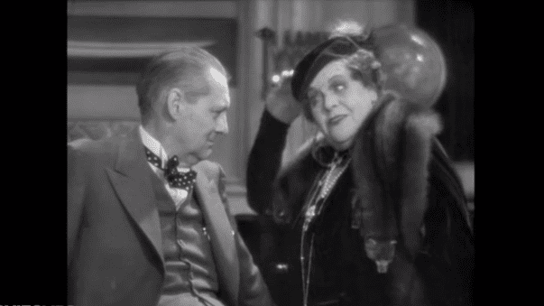 "Lionel Barrymore and Marie Dressler in ""Dinner at Eight"" (1933) 