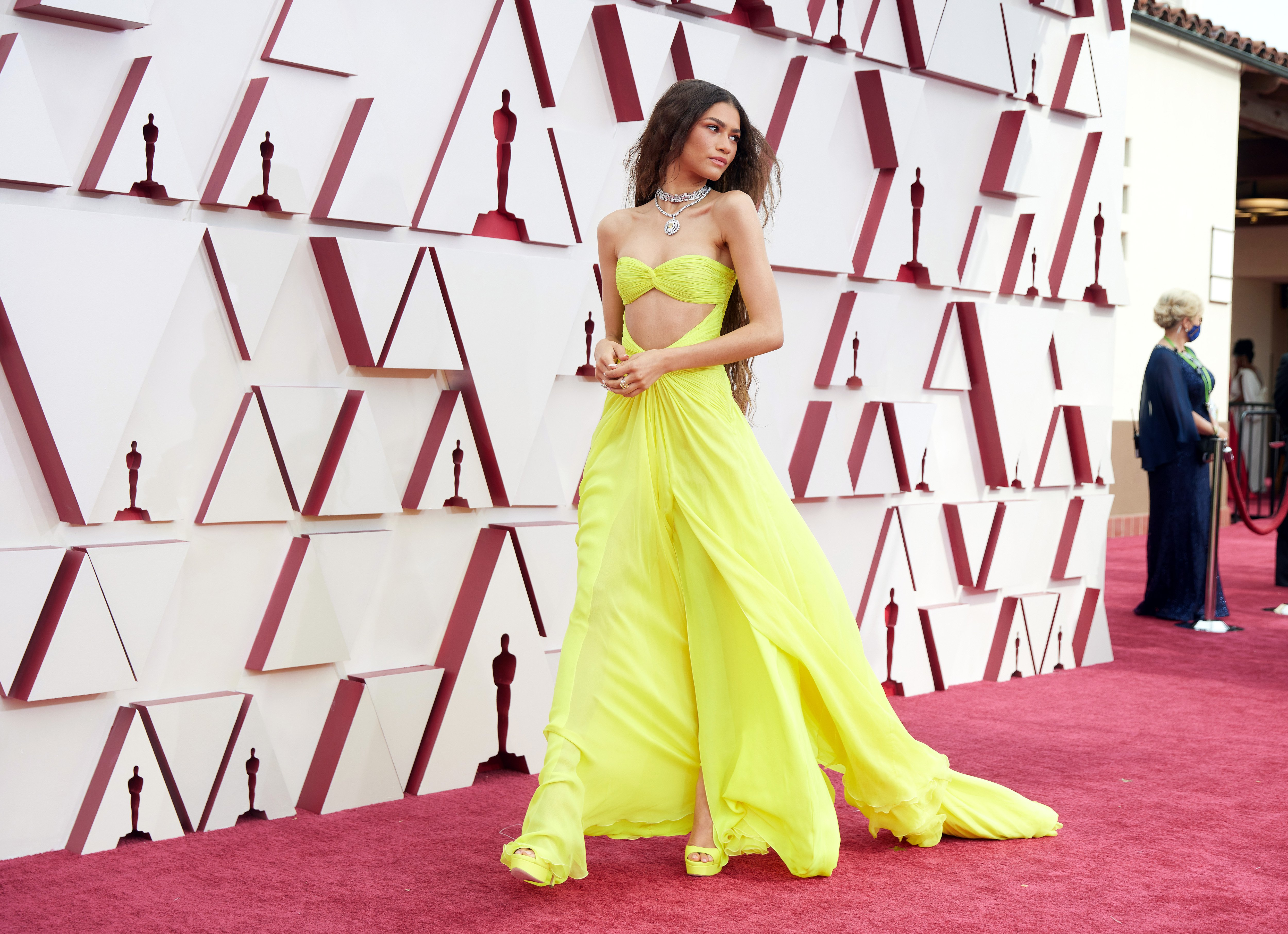 Zendaya pictured on the red carpet of the 93rd Academy Awards, California, 2021. | Photo: Getty Images