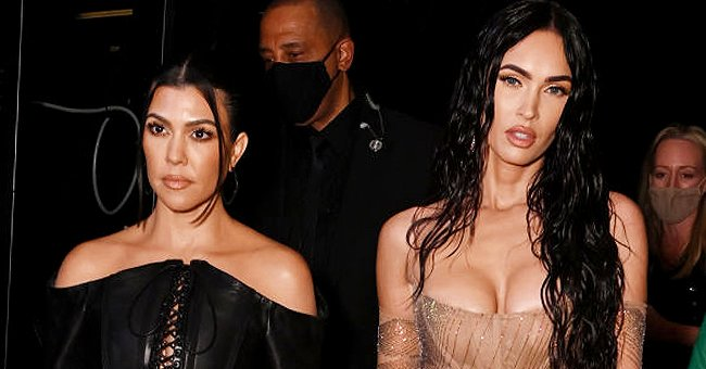 Kourtney Kardashian and Megan Fox attend the 2021 VMA's , September 2021 | Source: Getty Images