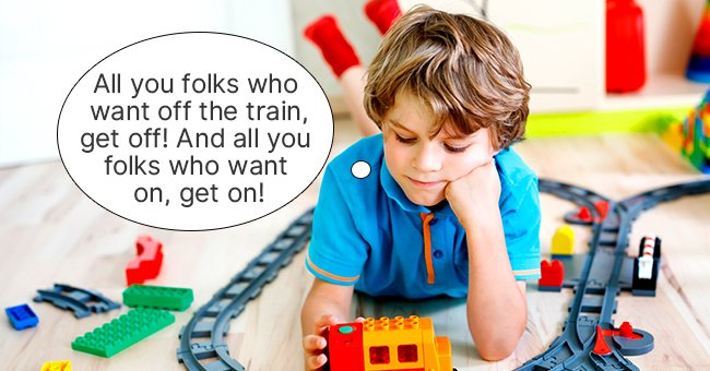 The boy would soon impersonate a conductor while playing with his toy train set.   Photo: Shutterstock