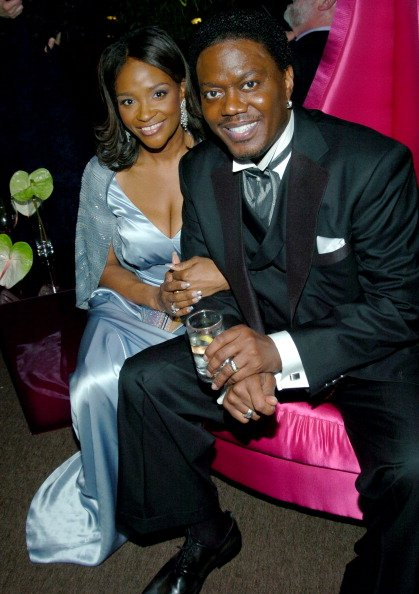 Bernie Mac and Rhonda McCullough at at the Beverly Hilton in Beverly Hills, California, United States, in 2004.   Photo: Getty Images