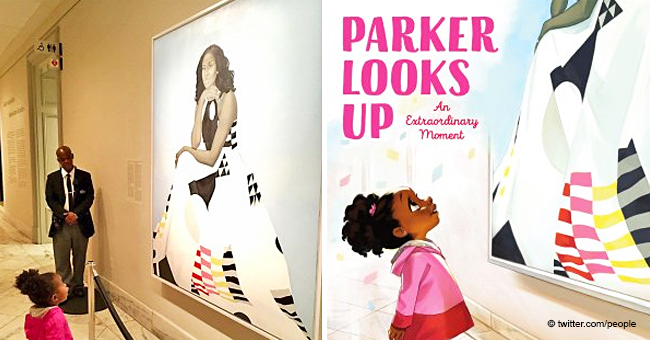 Michelle Obama's Portrait Stuns Little Girl: Viral Photo Becomes the Cover of a Book