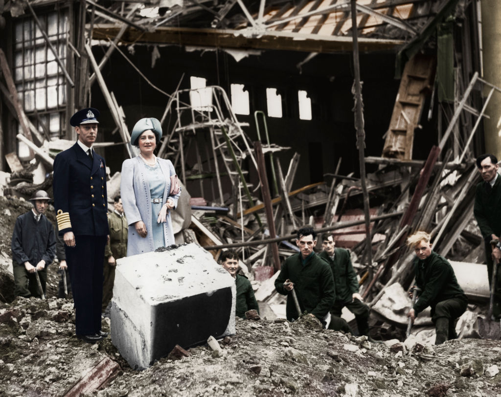 Image Credits: Getty Images/ The King And Queen Survey Bomb Damage Buckingham Palace London WWII 1940