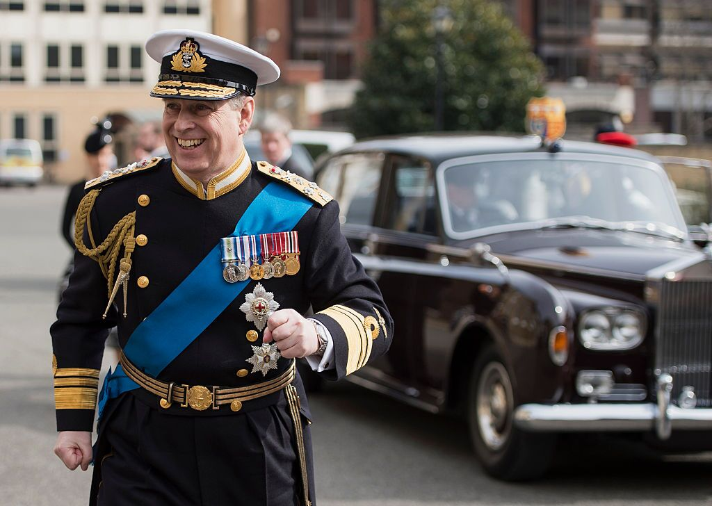 Prince Andrew, Duke of York arrives for a reception at the Honourable Artillery Company following the Afghanistan service of commemoration | Getty Images