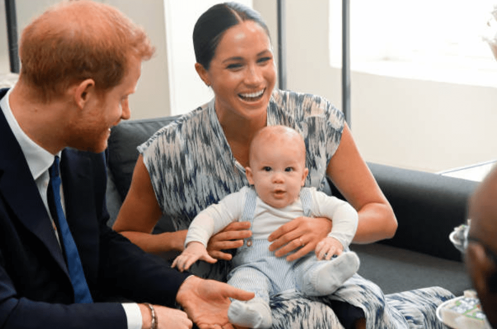 During their Africa tour, Prince Harry, Meghan Markle and their son Archie Mountbatten-Windsor meets with Archbishop Desmond Tutu at the Legacy Foundation, on September 25, 2019. in Cape Town, South Africa | Source: Getty Images