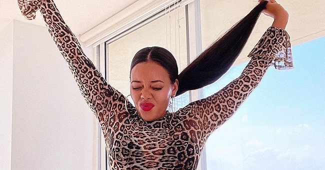 Angela Simmons Catches Fans' Eyes in New Photos Flaunting Her Figure in a Leopard Bodysuit