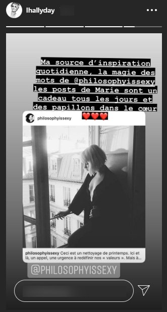 Screenshot du post de Laeticia Hallyday, le 5 mai 2020. | Photo : Story Instagram