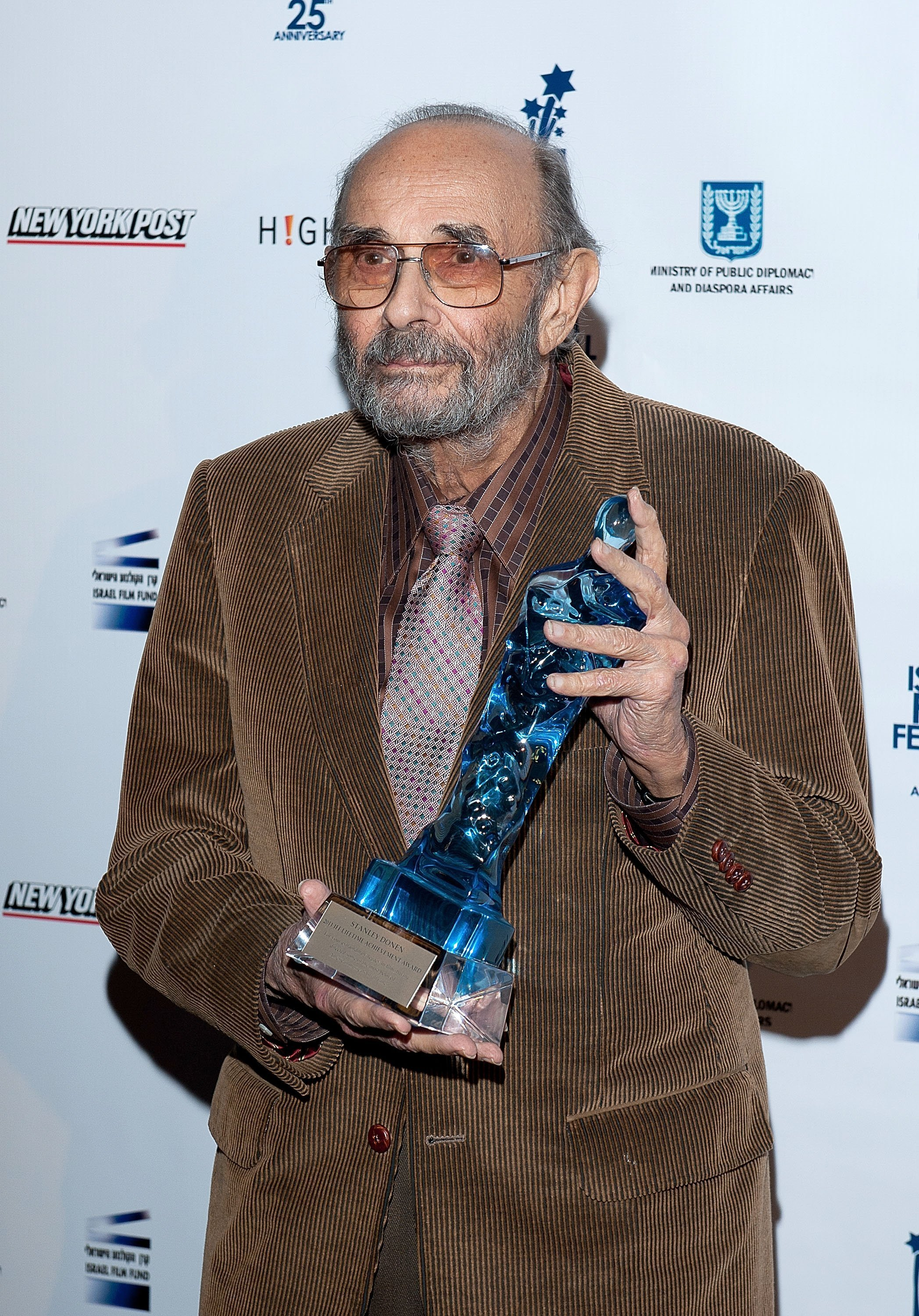 Stanley Donen at the 25th Israel Film Festival in New York City | Photo: Getty Images