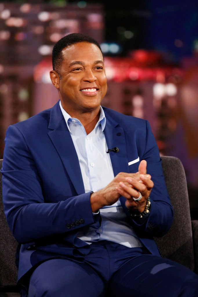 "CNN broadcast journalist Don Lemon during his 2019 TV guesting in ""Jimmy Kimmel LIVE!"" in ABC Network. 