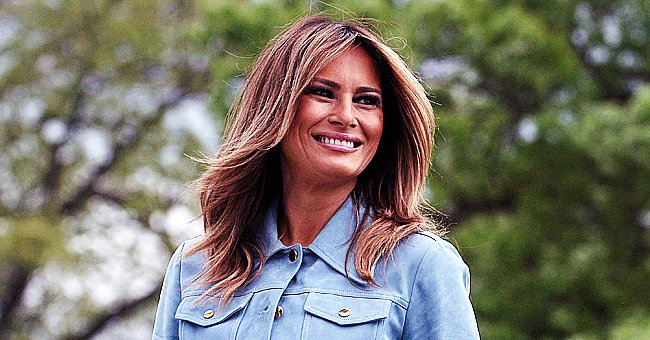 Melania Trump Wears Hard Hat as She Visits Site of New White House Tennis Pavilion