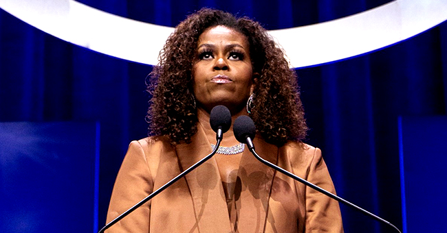 Michelle Obama Stuns in Brown Suit & Tears up as She Accepts Tom Hanks Caregiver Champion Award