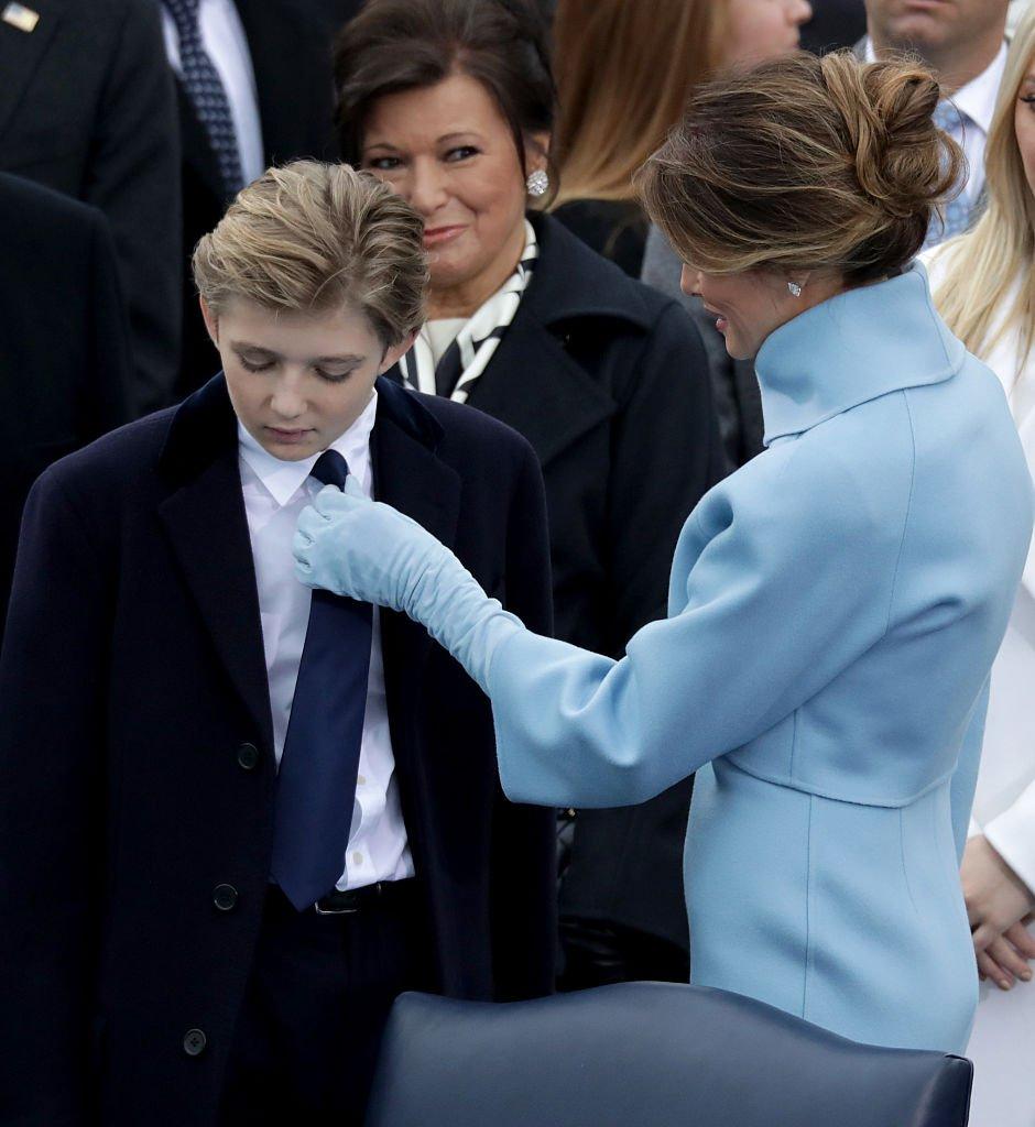Melania et Barron Trump en 2017. l Source : Getty Images