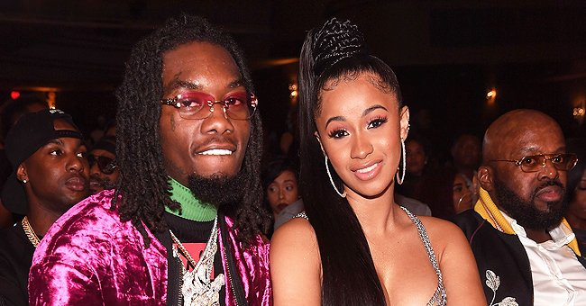 Cardi B & Offset's Daughter Kulture Rocks Flared Jeans With a Dior Bag & Big Bow — See Her Look