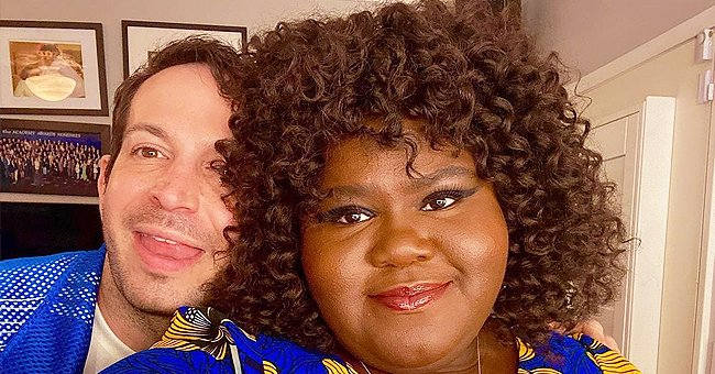 Gabby Sidibe's Fiancé Calls Her 'Marilyn Monroe' as She Turns Heads in a Belted Dress