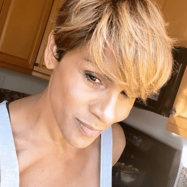 """NBA star Gary """"The Glove"""" Payton's ex-wife posing for a selfie published in her social media on April 28, 2020. I Image: Instagram/ @msmonique."""
