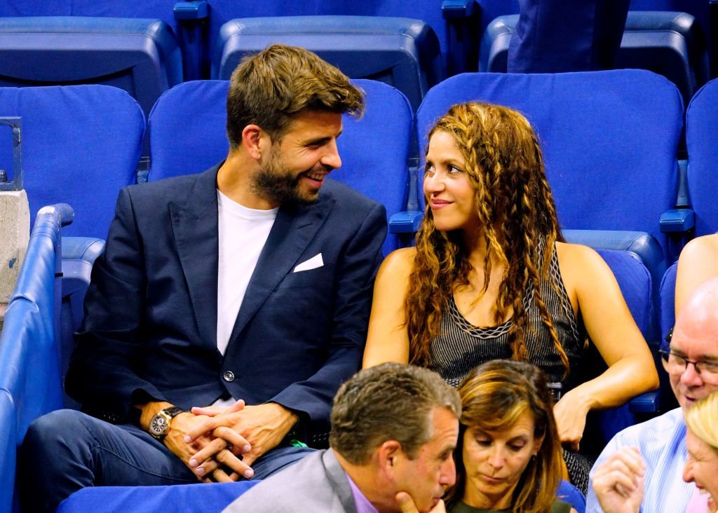 Shakira and Gerard Pique cheer on Rafael Nadal at the 2019 US Open on September 04, 2019 | Photo: Getty Images