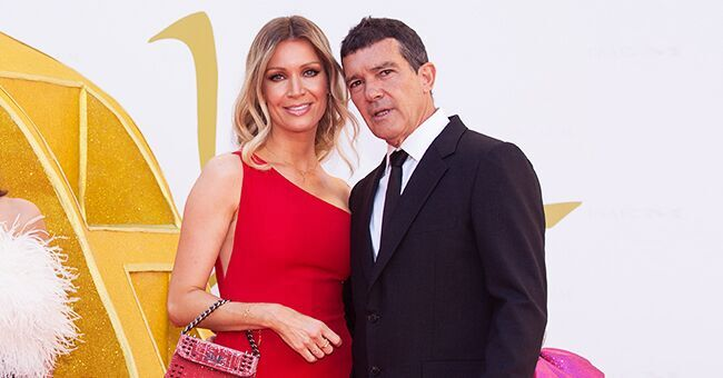 Antonio Banderas Steps out with Girlfriend Nicole Kimpel in Spain