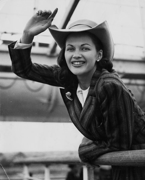 Yvonne De Carlo à Southampton, le 18 août 1948. | Photo: Getty Images
