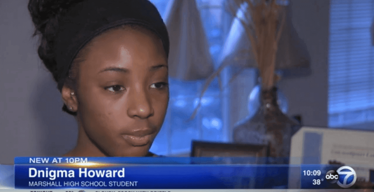 Dnigma Howard speaking about the incident in an interview. | Photo: YouTube/ABC 7 Chicago