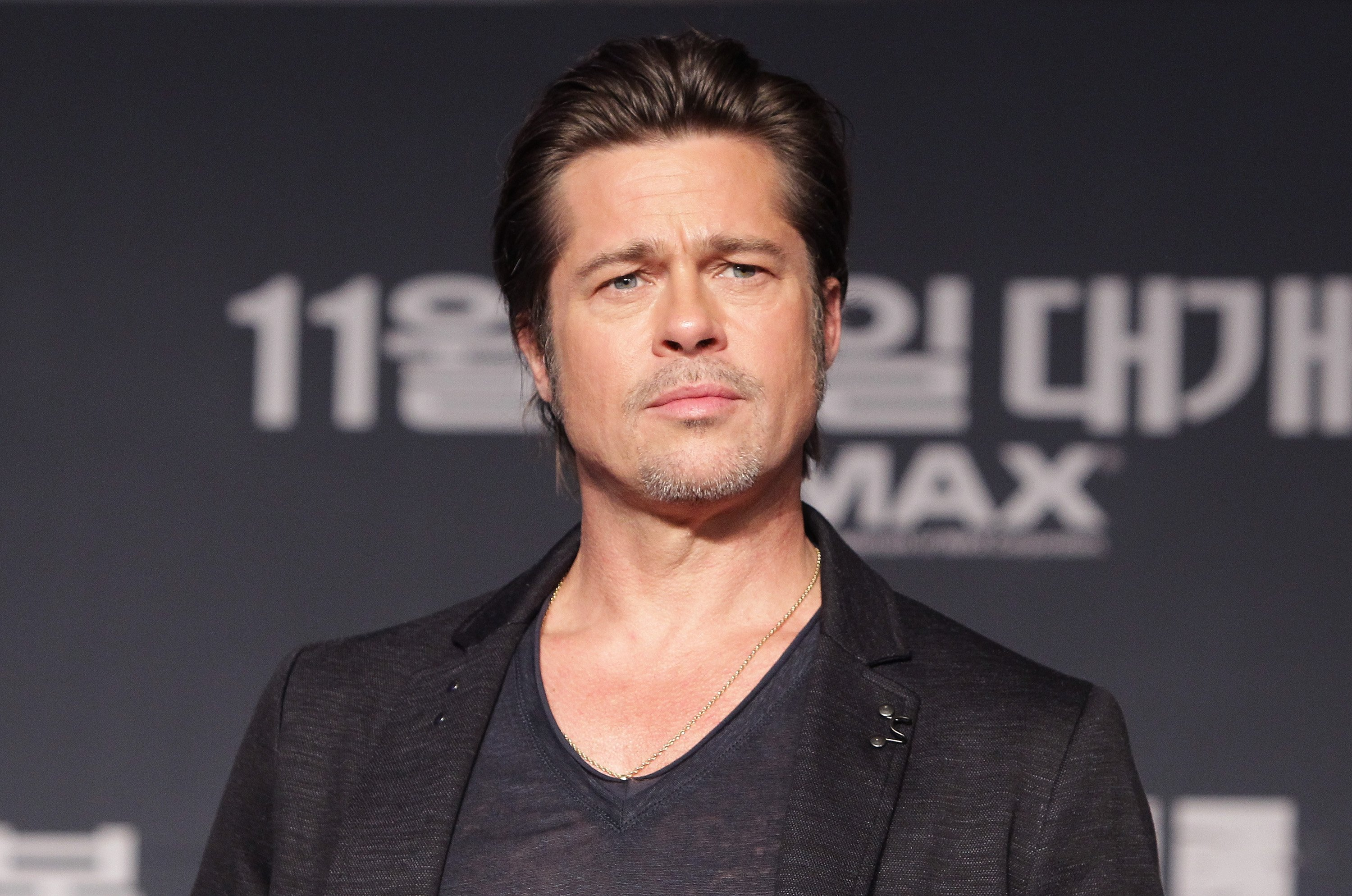 Brad Pitt during a 2014 press conference in South Korea. | Photo: Getty Images