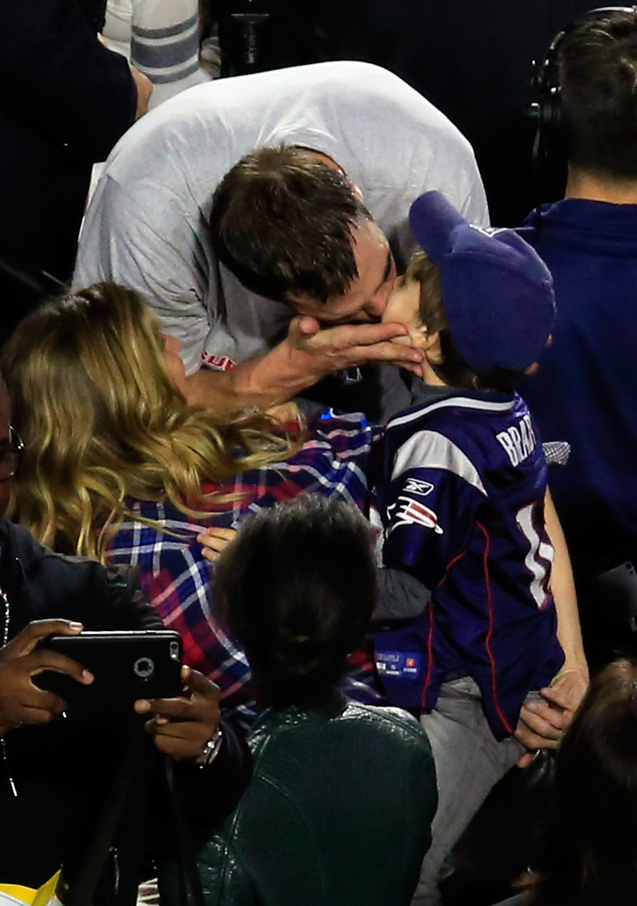 Tom Brady and his children Benjamin and Vivian Lake | Photo: Getty Images