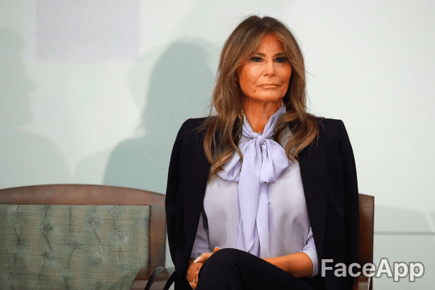Melania Trump | Source : GettyImages / FaceApp