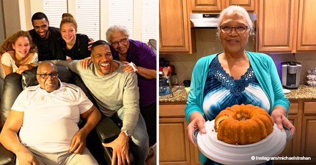 '#Mama's boy' Michael Strahan melts hearts with heartwarming holiday photos of his kids & parents