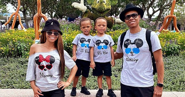 'New Edition's' Ronnie DeVoe, Wife Shamari & Their Twin Sons Rock Matching Shirts in a Snap