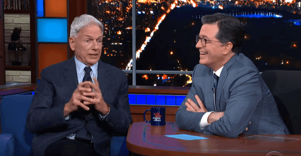 Mark Harmon talking to Stephen Colbert about his experience working with Elizabeth Taylor on December 14, 2019. | Source: YouTube/ The Late Show with Stephen Colbert.