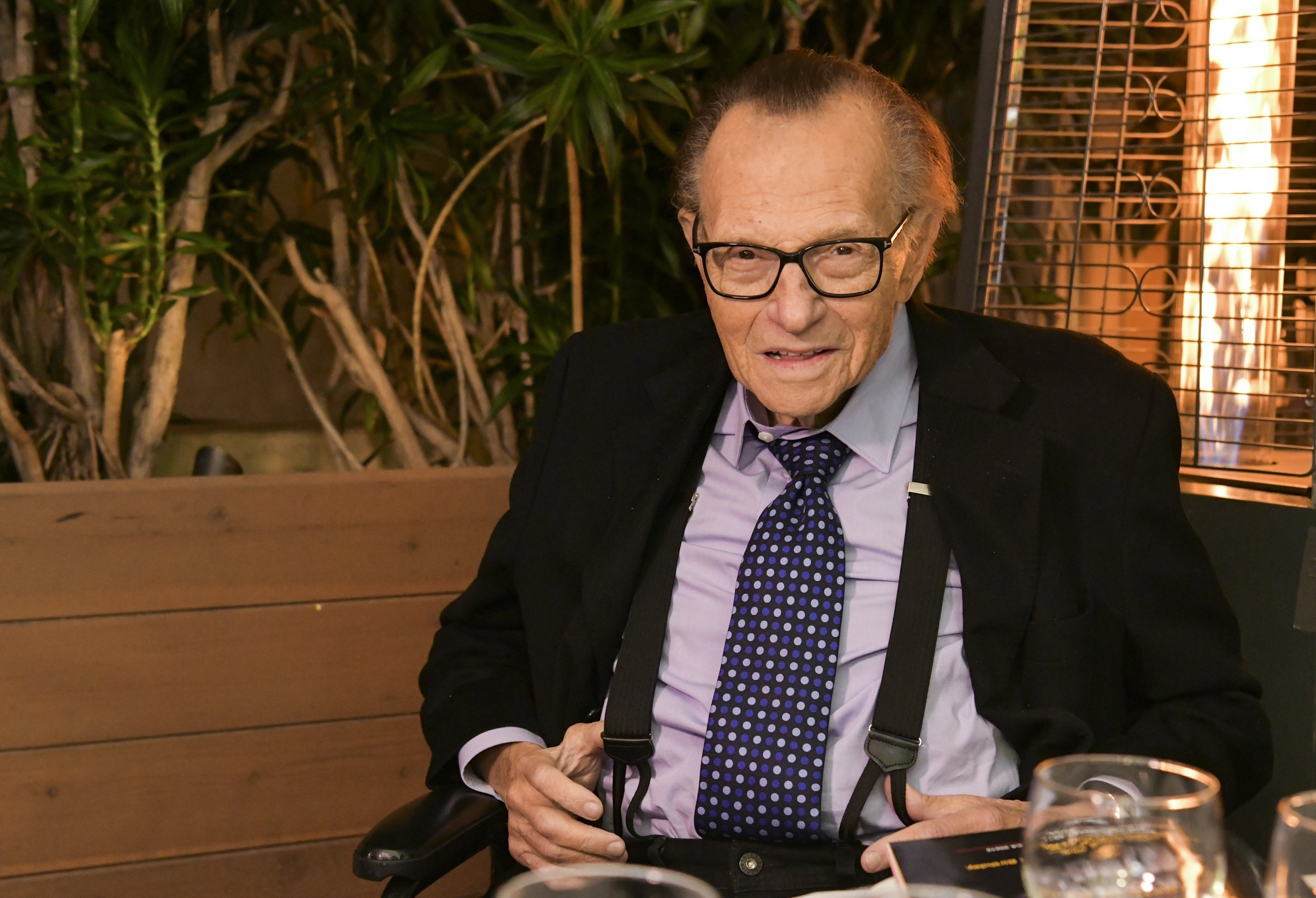 Larry King poses for portrait as the Friars Club and Crescent Hotel honor him for his 86th birthday at Crescent Hotel on November 25, 2019, in Beverly Hills, California. | Source: Getty Images.