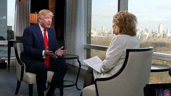 Barbara Walters interviewing Donald Trump in New York City,   Photo: Getty Images