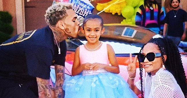 See Chris Brown's Daughter Royalty Showing Dance Skills in Cute Pajamas in a Video with Her Dad