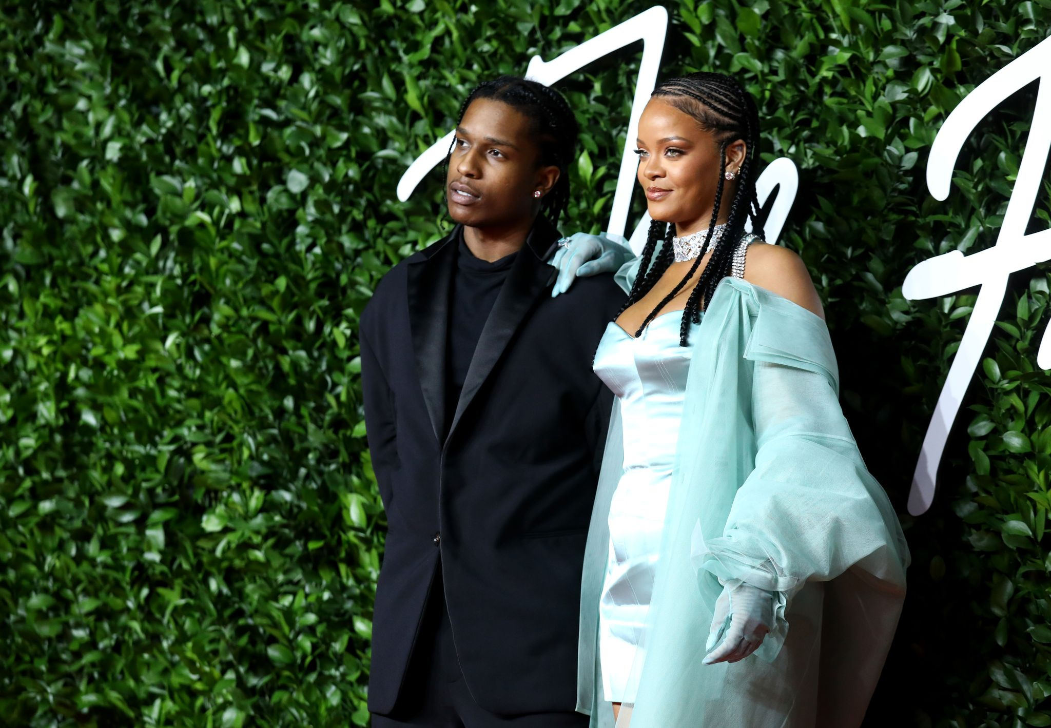 Rihanna and A$AP Rocky arrive at The Fashion Awards in 2019 in London, England. | Photo: Getty Images