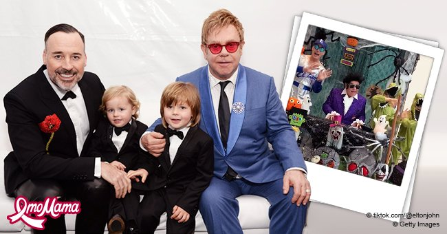 Elton John and His Family Dressed up for Halloween to Perform 'Crocodile Rock'