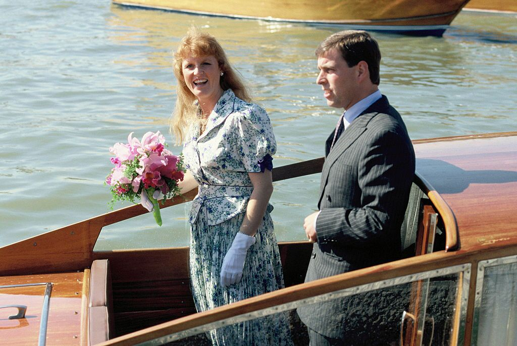 Prince Andrew and Sarah Ferguson in Venice | Getty Images
