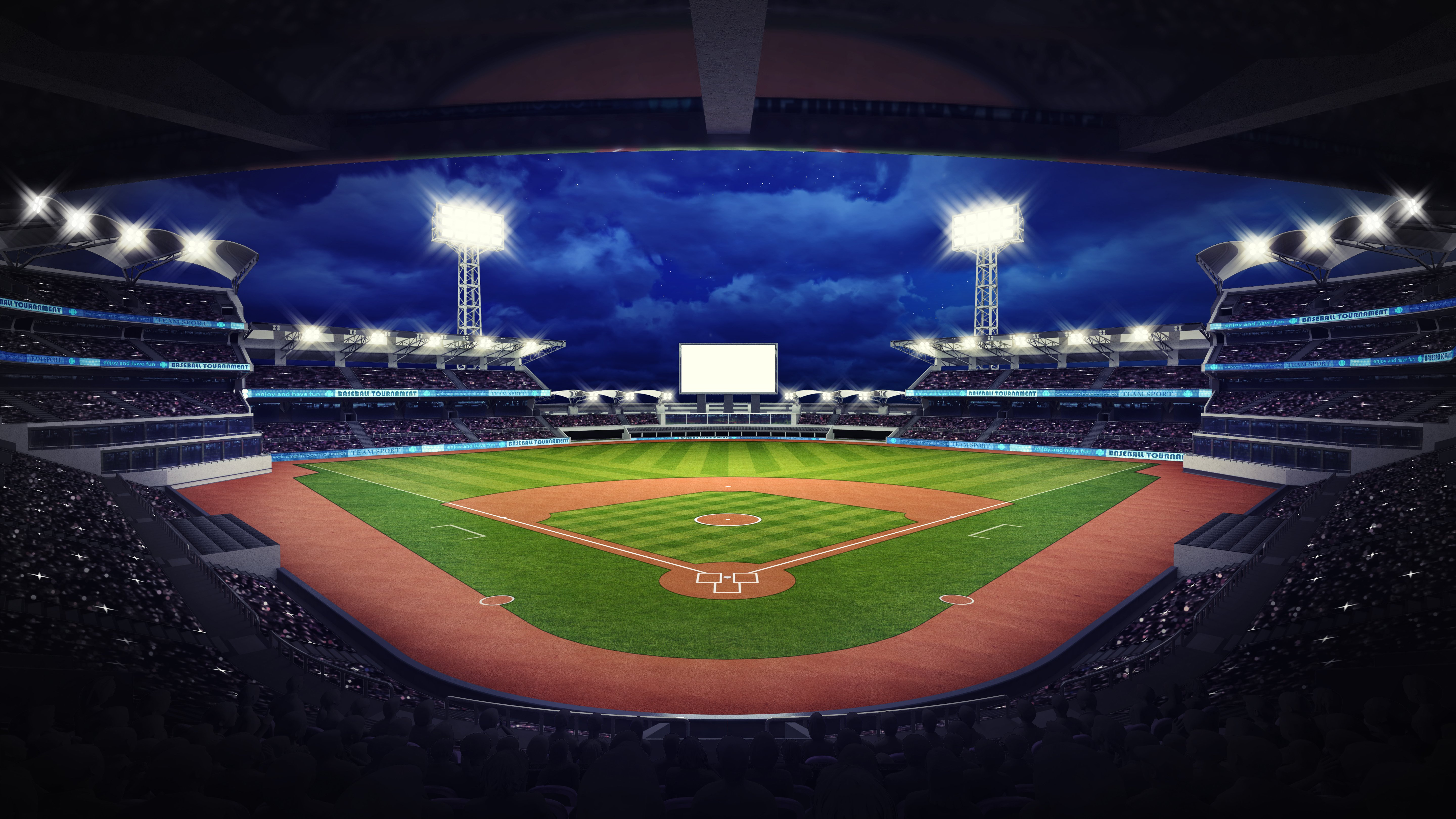 A baseball stadium under roof view with fans | Photo: Shutterstock