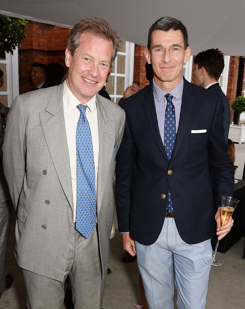 Lord Ivar Mountbatten and Chip Bergh at Kensington Palace on the eve of 'Dockers Flannels For Heroes' cricket match on June 19, 2014 | Photo: GettyImages