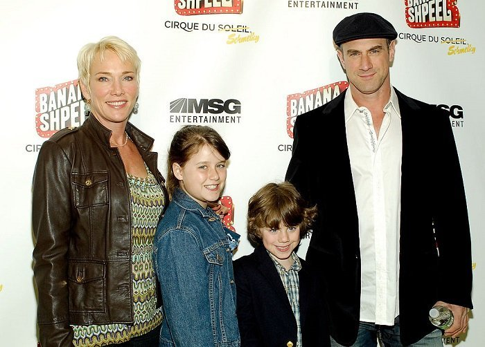 Christopher Meloni and his family, wife Sherman Williams, children Sophia and Dante I Image: Getty Images