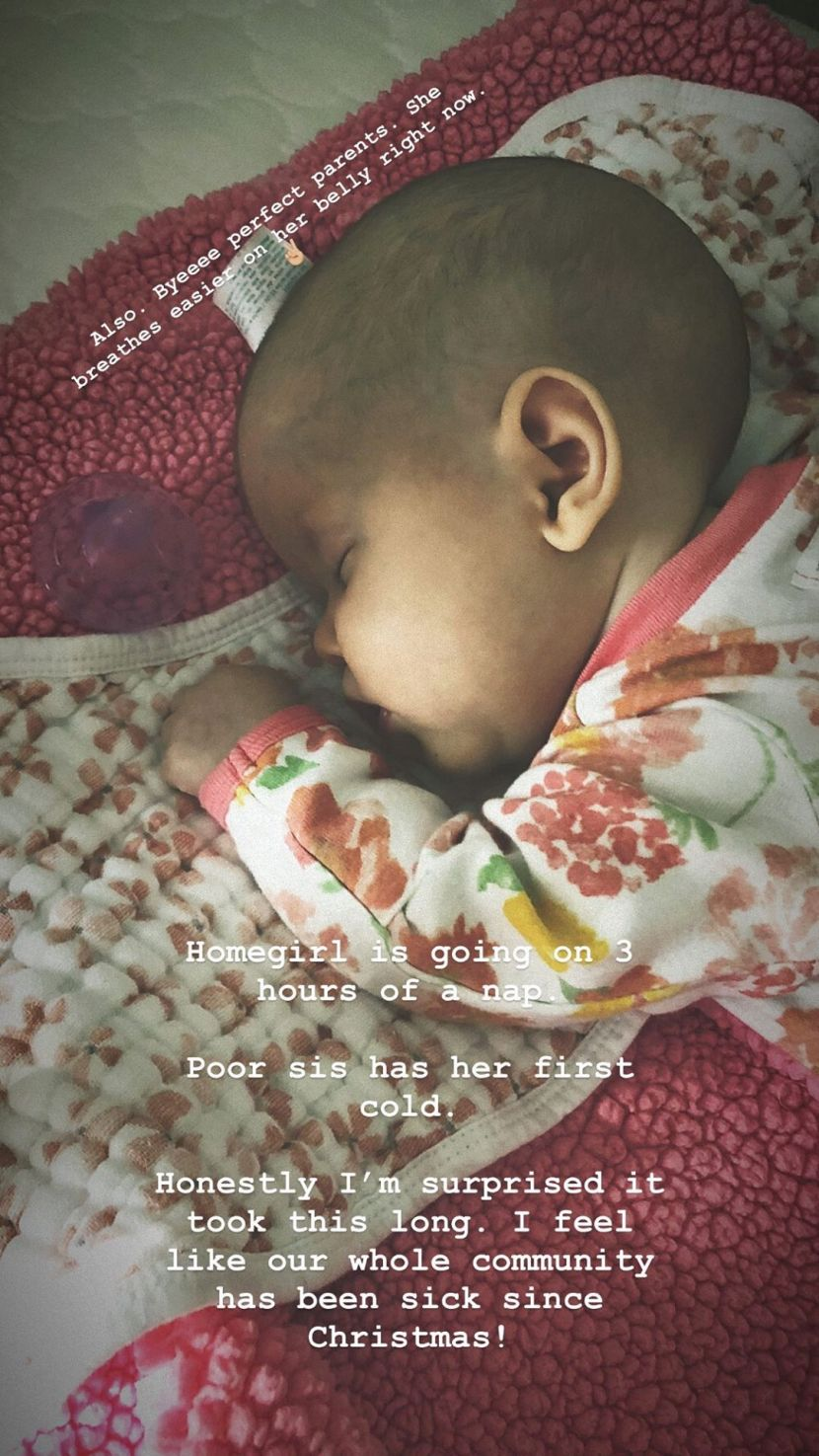 A recent photo of Lilah Ray Roloff sleeping. | Photo: Instagram/toriroloff