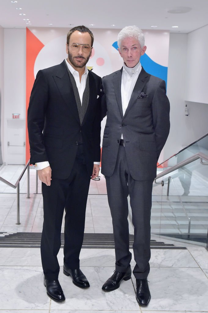 Tom Ford (L) and Richard Buckley at the Hammer Museum 16th Annual Gala in the Garden with generous support from South Coast Plaza at the Hammer Museum on October 14, 2018   Photo: Getty Images
