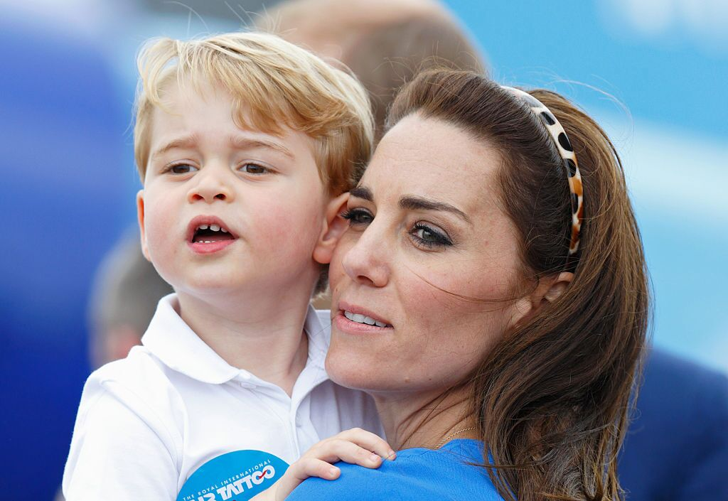 Prince George and Kate Middleton visit the Royal International Air Tattoo at RAF Fairford | Getty Images