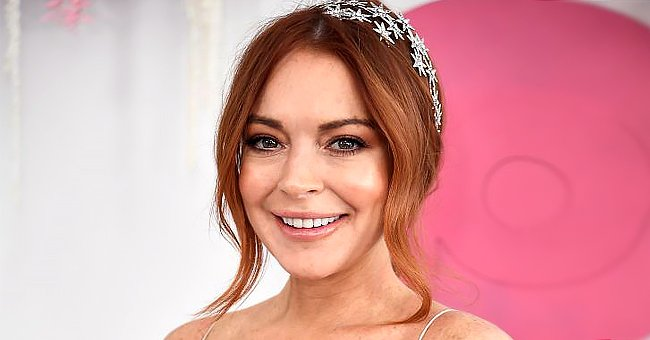 Lindsay Lohan pictured at the Network 10 marquee on Melbourne Cup Day, 2019, Melbourne, Australia. | Photo: Getty Images