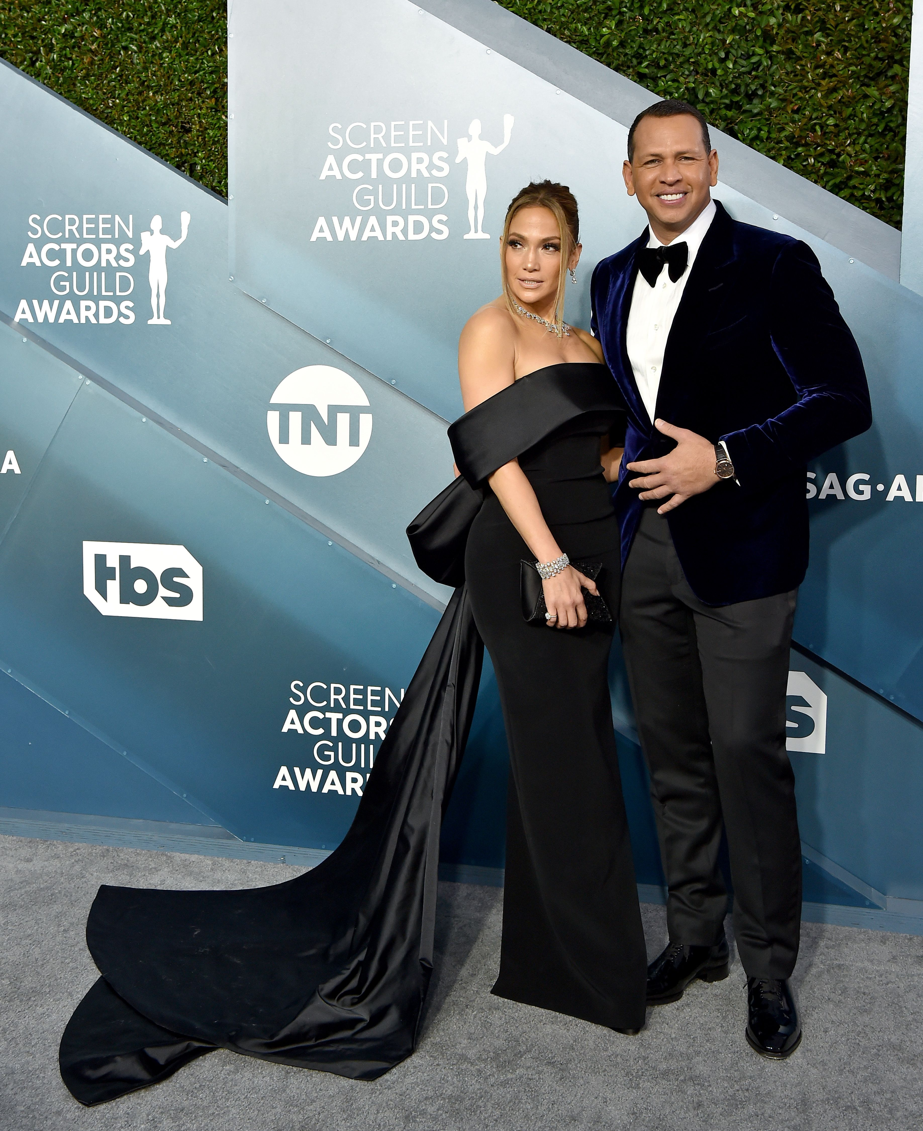 Jennifer Lopez and Alex Rodriguez at the 26th Annual Screen Actors Guild Awards at The Shrine Auditorium on January 19, 2020   Photo: Getty Images