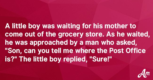 Pastor Asks a Little Boy the Way to the Post Office