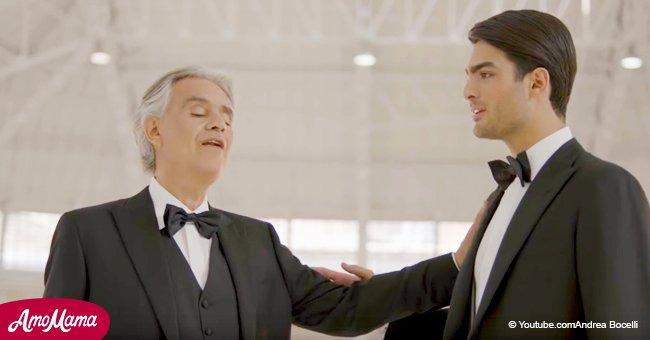 Le fils d'Andrea Bocelli a révélé son talent il y a seulement 2 ans - maintenant leur duo nous fait pleurer