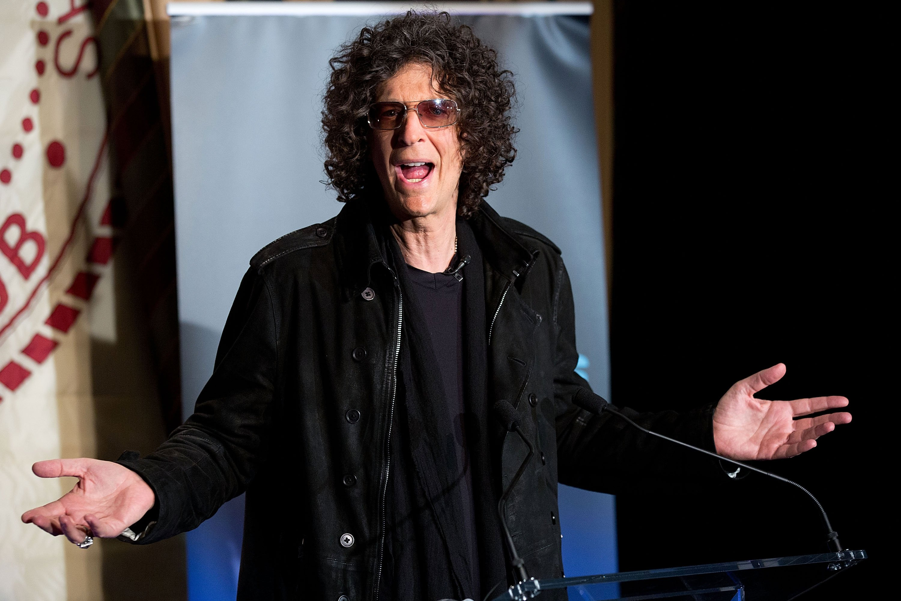 "Howard Stern attends the ""America's Got Talent"" Press Conference at New York Friars Club on May 10, 2012 