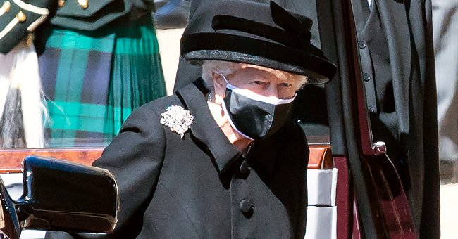 People: Queen Elizabeth II Breaks Royal Mourning Ritual after Prince Philip's Funeral