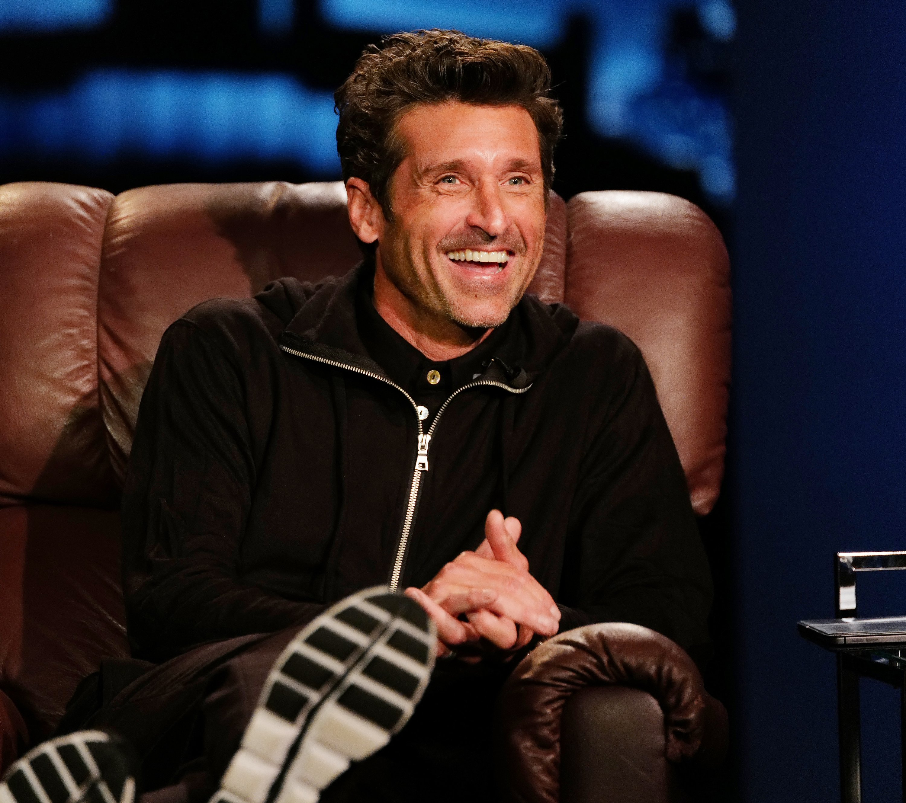 Patrick Dempsey enjoying a laugh during his appearance on Jimmy Kimmel, October 14, 2020. | Photo: Getty Images.